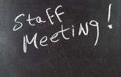 Staff Meeting- Canceled