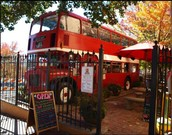 Vintage Double-Decker Bus cafe