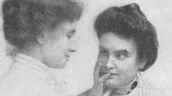 Helen Keller reading lips