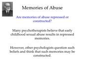 Memories of Abuse
