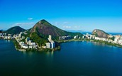 A picture of the coast line of Rio