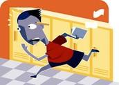 4.) No corras en los vestíbulos.