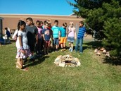 Second graders built a toad habitat.