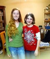 My sister and I on Christmas Eve