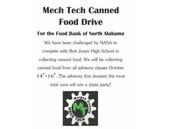 Mech Tech Canned Food Drive