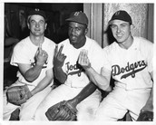 Jackie Robinson with his friends