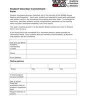 Student Volunteer Application