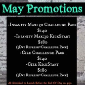 Promo Packages for May