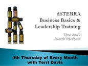 DOTERRA BASIC BUSINESS AND LEADERSHIP TRAINING