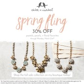 all florals,pearls and pastels from Chloe and isabel collections on sale