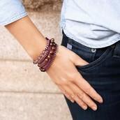 Bead + Ribbon Multi-Wrap Bracelet $48