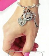 Dangle Bracelet with Mini Locket & Dangles