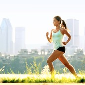 run and exercise.