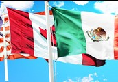 flags of Mexico and Canda