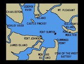 Fort Sumter on a map