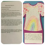 4th Grade Panthers Create Paper T-shirts To Practice Writing!