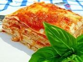 Lasagna Rp 50.000/porsi