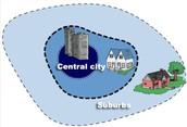 Where a suburban house is