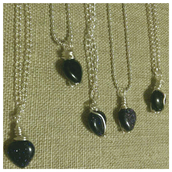 Wire Wrapped Genuine Blue Goldstone Necklace