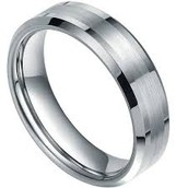Tungsten is most common in wedding bands