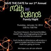 2nd Annual Math & Science Night
