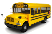 How many cases of water will is take to fill a school bus?