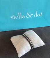 Hematite & Stone Bracelet $15