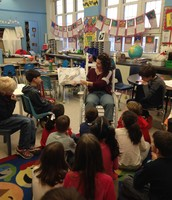 Mrs. Gagner reading some inspiring books as our surprise guest reader