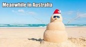 Christmas is in the SUMMER in Australia