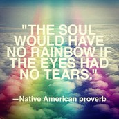 the soul would have no rainbows if the eyes had no tears - tribe unknown