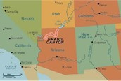 This is a map of the Grand  Canyon.