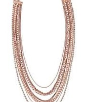 Ginger, rose gold necklace