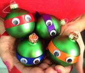Teenage Mutant Ninja Turtle Ornaments!