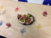 Homemade Tablecloth for Thanksgiving Feast