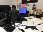Swabbing Mr. Heinroth's keyboard...