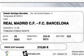 El clasico ticket.