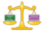 Balance calories from foods and drinks to maintain a healthy range