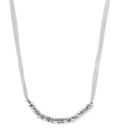 "Piper Necklace, silver - 16"" long"