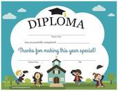 special kiddie diplomas