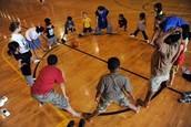Indoor kick dodgeball equipment