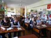 В акции приняли участие ученики 8-х классов Пышминской школы под руководством Шиховой Е. Б.