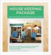 Weekly house keeping package @ 10€ flat