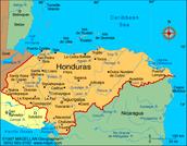 Honduras es encontrado en América Central y es un poco más alto que Tennessee.