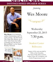 Save the Date... Wes Moore!