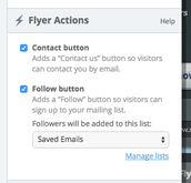 Flyer Actions