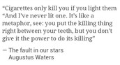 "Quote from the ""FAULT IN OUR STARS"""