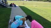Mr. Pou's STEM class working on distance from the sun.