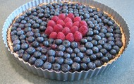 This is what a blueberry tart looks like.