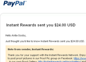 Instant Rewards sent me $24.00