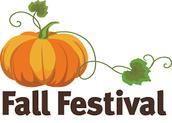 Fall Festival- October 30th